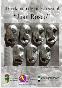 Cartel publicitario del II Certamen de poesía visual Juan Rosco