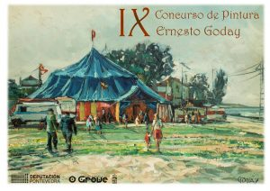 Imagen publicitaria de la novena edición del premio, fotografía de un paisaje de Ernesto Goday.